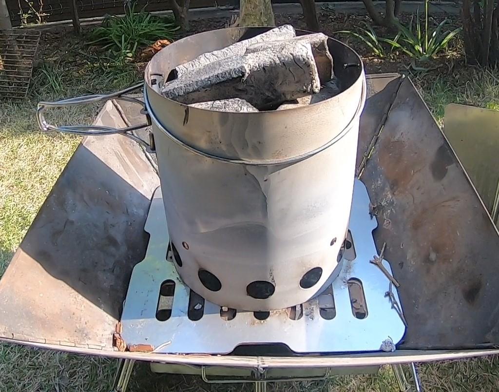 キャプテンスタッグ   『火起こし器、火消し壷セット』で簡単火起こし!安全火消し! もう火起こしで困らない
